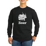 Vintage Beer Bear 2 Long Sleeve Dark T-Shirt