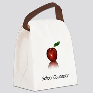 School Counselor Canvas Lunch Bag
