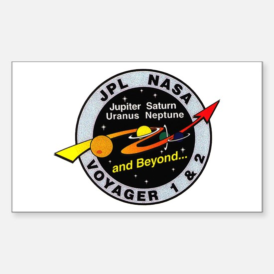 Voyager 1 & 2 Sticker (Rectangle)