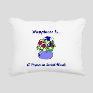 Social Work Degree Rectangular Canvas Pillow