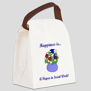 Social Work Degree Canvas Lunch Bag