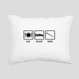 Eat, Sleep, Sing Rectangular Canvas Pillow