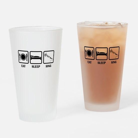 Eat, Sleep, Sing Drinking Glass