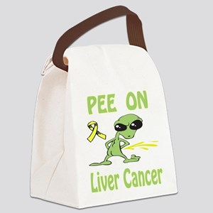 Pee on Liver Cancer Canvas Lunch Bag