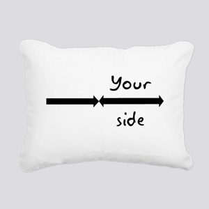 My side your side pillow cases Rectangular Canvas