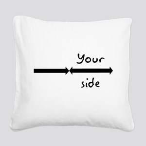 My side your side pillow cases Square Canvas Pillo