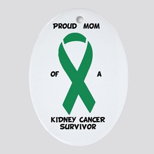 Proud Mom of a Kidney Cancer Survivo Oval Ornament