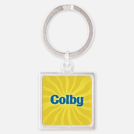 Colby Sunburst Square Keychain