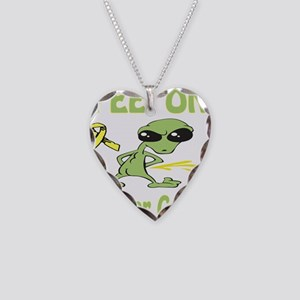 Pee on Bladder Cancer Necklace Heart Charm