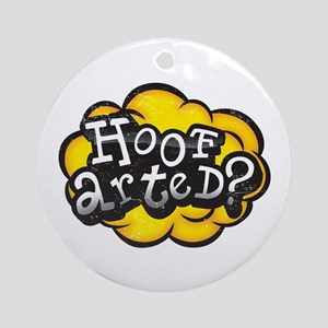 Hoof Arted? Ornament (Round)