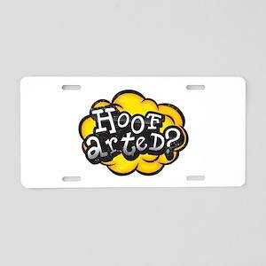 Hoof Arted? Aluminum License Plate