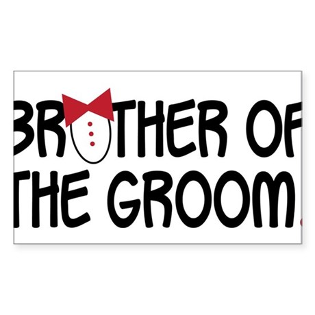 Brother Of The Groom Sticker (Rectangle)