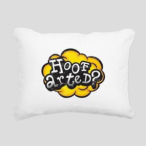 Hoof Arted? Rectangular Canvas Pillow