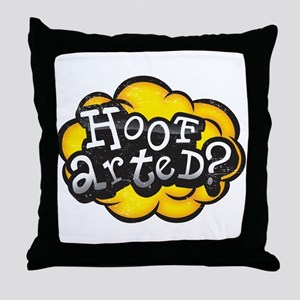 Hoof Arted? Throw Pillow