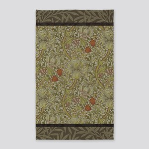 William Morris Floral lily willow art pri Area Rug