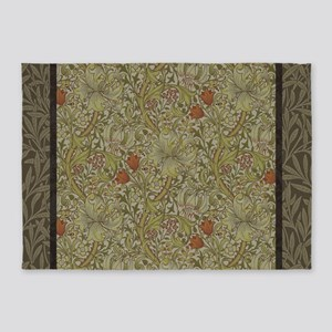 William Morris Floral lily willow a 5'x7'Area Rug