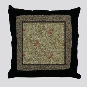 William Morris Floral lily willow art Throw Pillow
