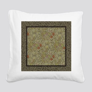 William Morris Floral lily wi Square Canvas Pillow