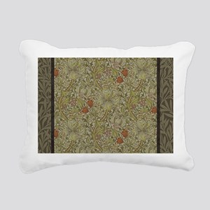 William Morris Floral li Rectangular Canvas Pillow