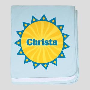 Christa Sunburst baby blanket