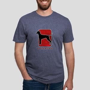12-redsilhouette Mens Tri-blend T-Shirt