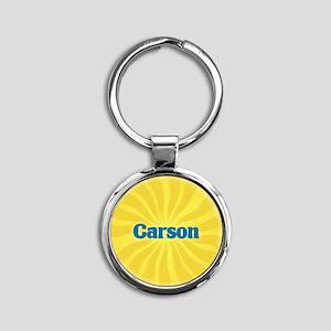 Carson Sunburst Round Keychain