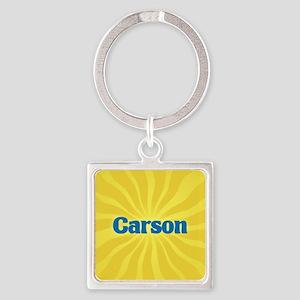 Carson Sunburst Square Keychain