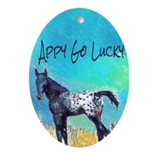 Appy Go Lucky Horse Ornament (Oval)