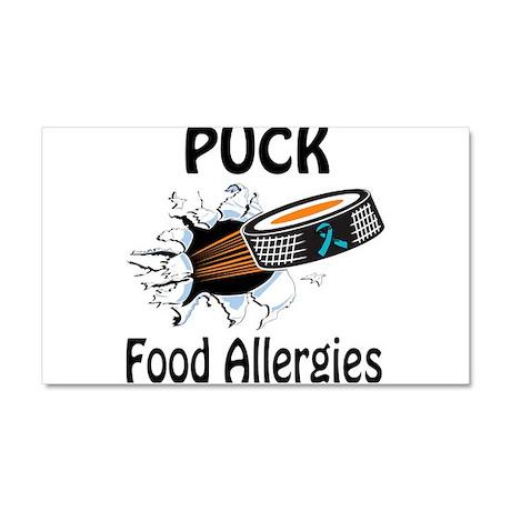 Puck Food Allergies Car Magnet 20 x 12