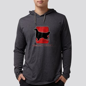 16-redsilhouette Mens Hooded Shirt