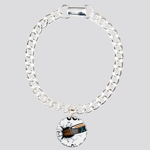 Puck Anxiety Disorder Charm Bracelet, One Charm