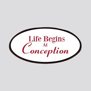 Life begins at conception gifts Patches