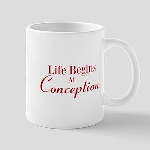 Life begins at conception gifts Mug