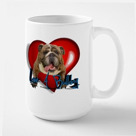 love a bulldog Large Mug