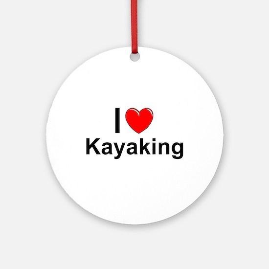 Kayaking Round Ornament