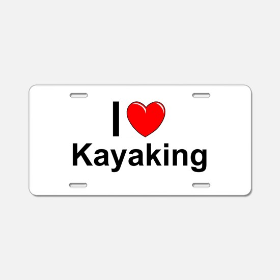 Kayaking Aluminum License Plate