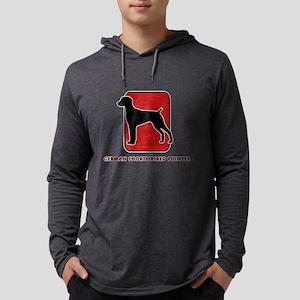 20-redsilhouette Mens Hooded Shirt