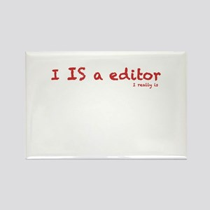 I is a editor Rectangle Magnet