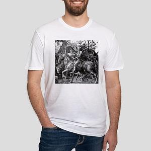 Knight & Devil Durer 1471-1528 Fitted T-Shirt