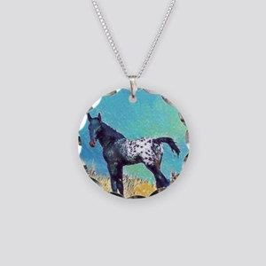 Appy Go Lucky Horse Necklace Circle Charm
