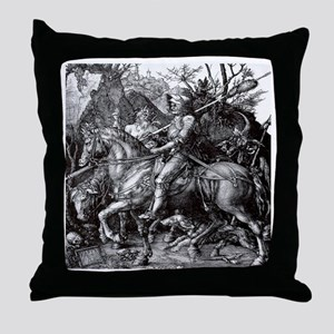 Knight & Devil Durer 1471-1528 Throw Pillow
