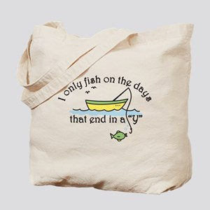 I Only Fish Tote Bag