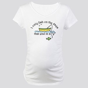 I Only Fish Maternity T-Shirt