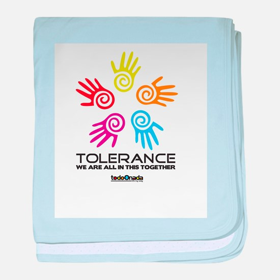 Tolerance- We are all in this together baby blanke