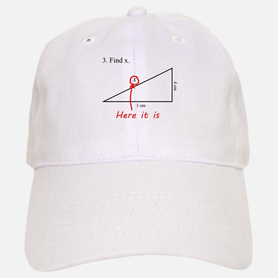 Find x Math Problem Baseball Baseball Cap