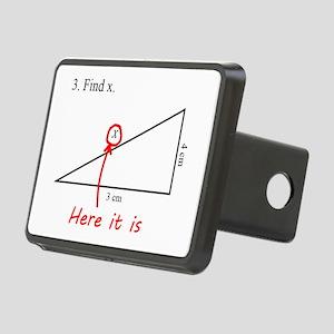 Find x Math Problem Rectangular Hitch Cover