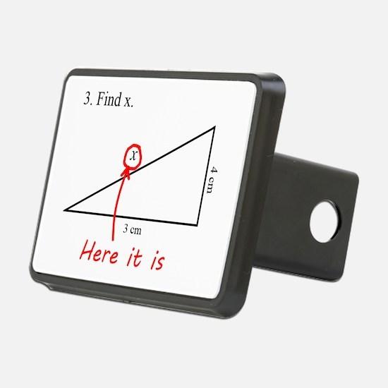 Find x Math Problem Hitch Cover