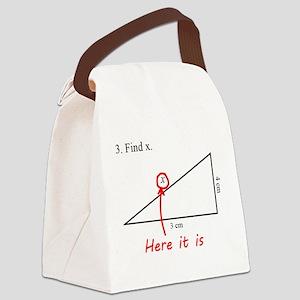 Find x Math Problem Canvas Lunch Bag