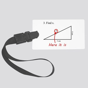 Find x Math Problem Large Luggage Tag