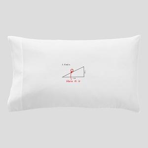 Find x Math Problem Pillow Case